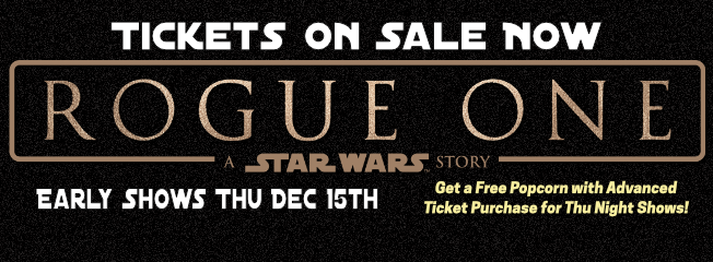 Star Wars Rogue One Tickets Now On Sale at Cinema Cafe