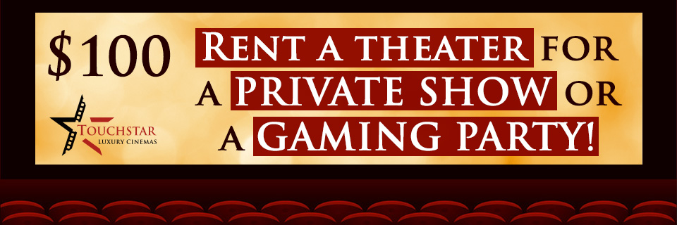 CALL THE THEATER OR MESSAGE US ON FACEBOOK FOR BOOKINGS!