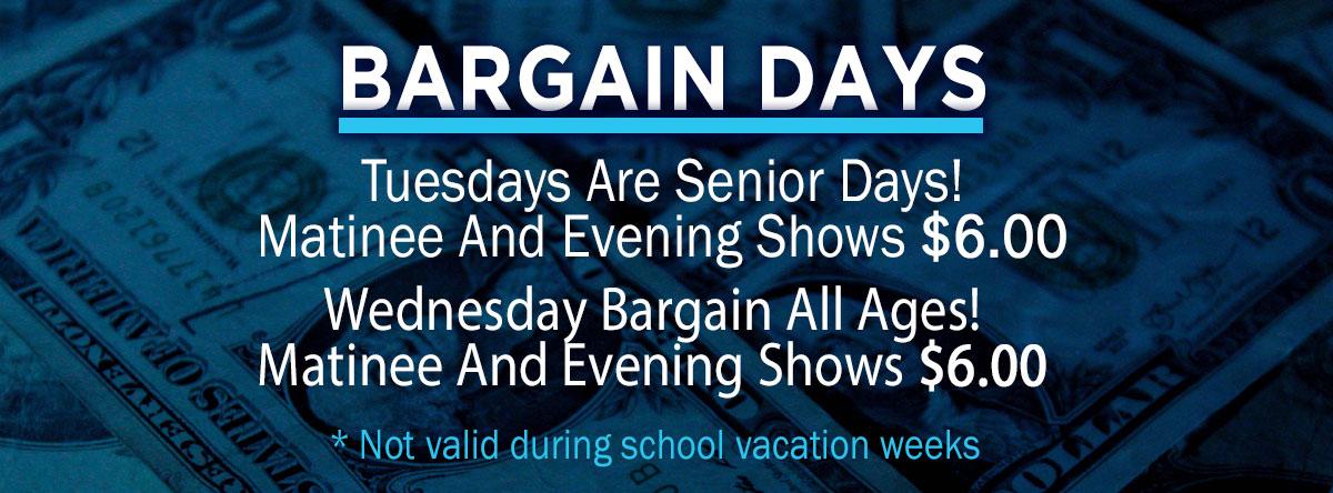 Slider for Bargain Days