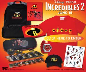 Incredibles 2 Sweepstakes