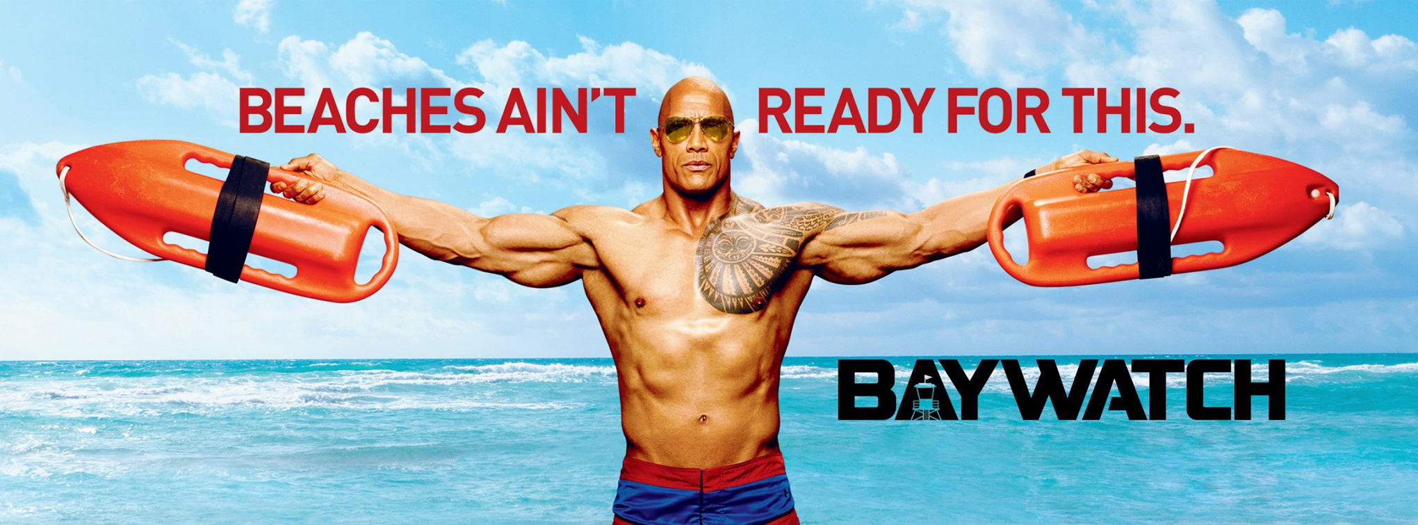 Baywatch - starring Dwayne Johnson and Zac Efron - coming May 25!