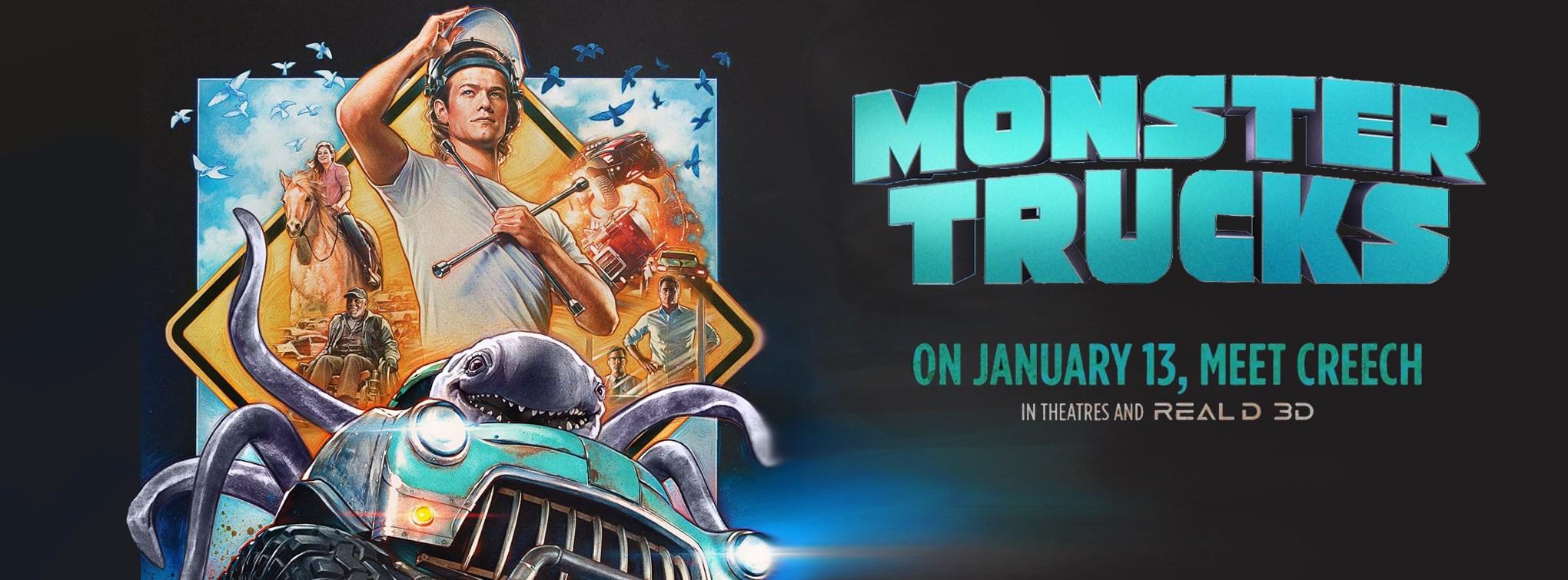 Monster Trucks, now playing!