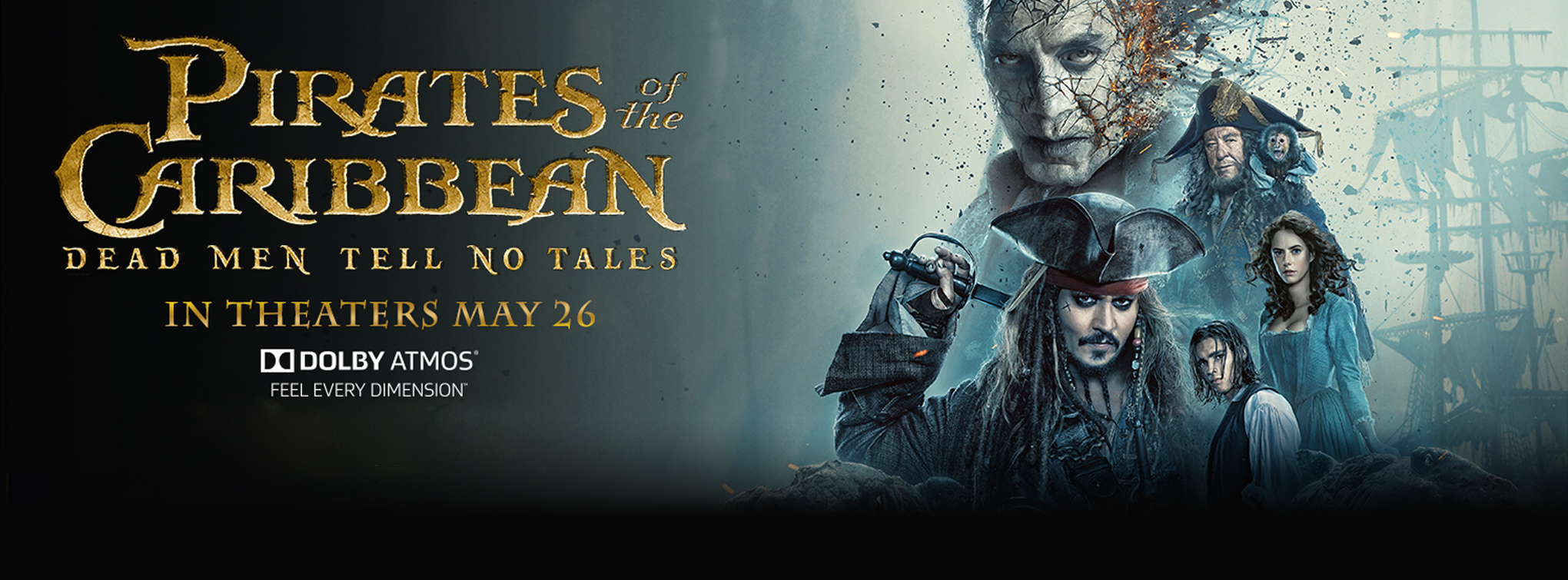 Pirates of the Caribbean: Dead Men Tell No Tales premieres most locations Thursday, May 25!