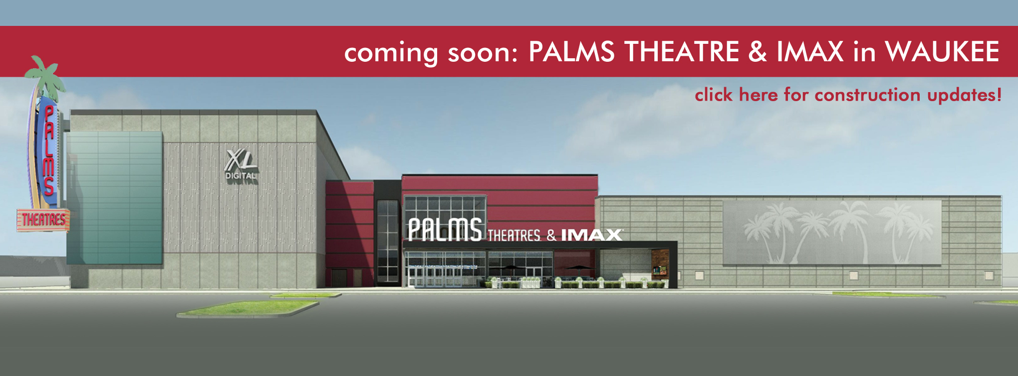 Slider image for Palms Theatre & IMAX rendering in Waukee