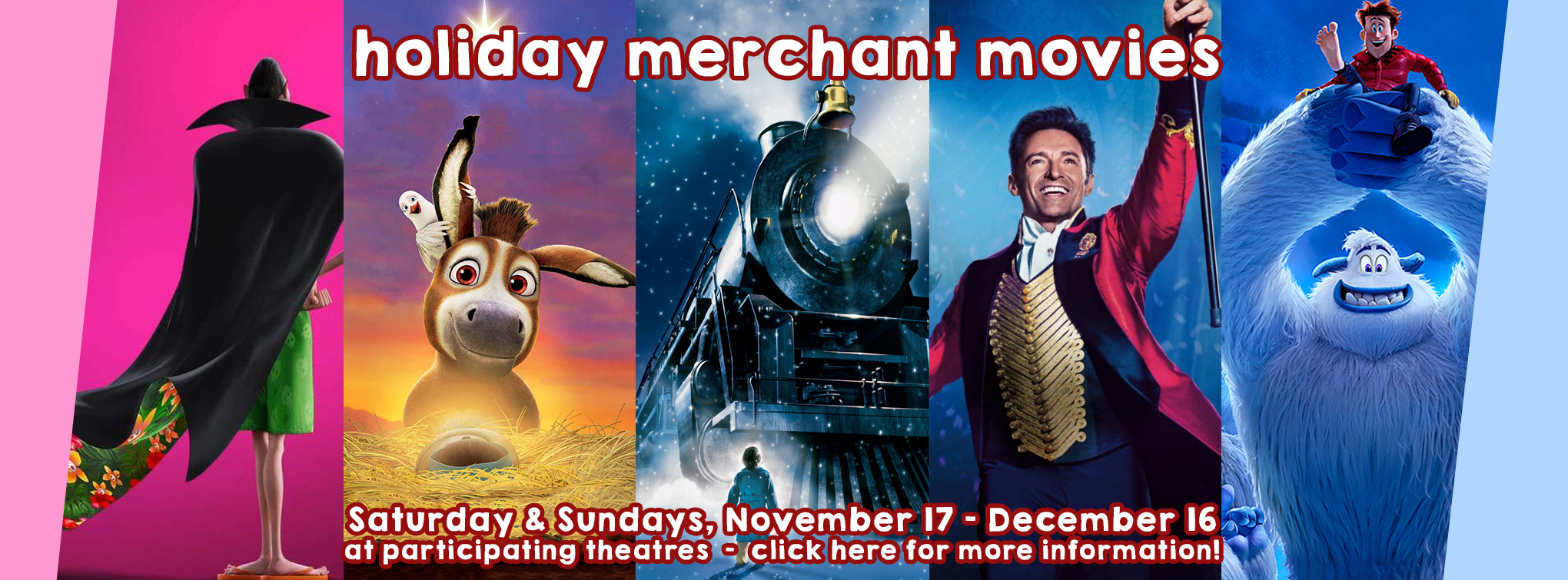 Slider image for our free holiday merchant movies - click here for more information