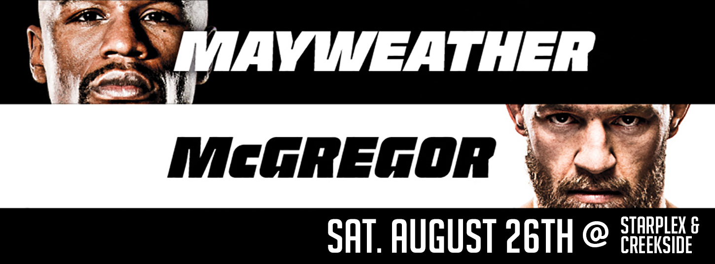 Mayweather vs McGregor LIVE.  Tickets on sale now!