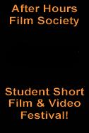 Poster for Student Film Festival