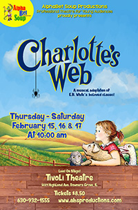 Poster for Alphabet Soup presents Charlotte's Web