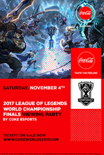 Poster for 2017 League of Legends World Finals Viewing Party