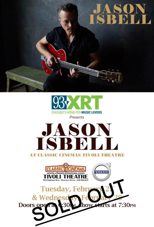 Poster of Jason Isbell at the Tivoli Theatre