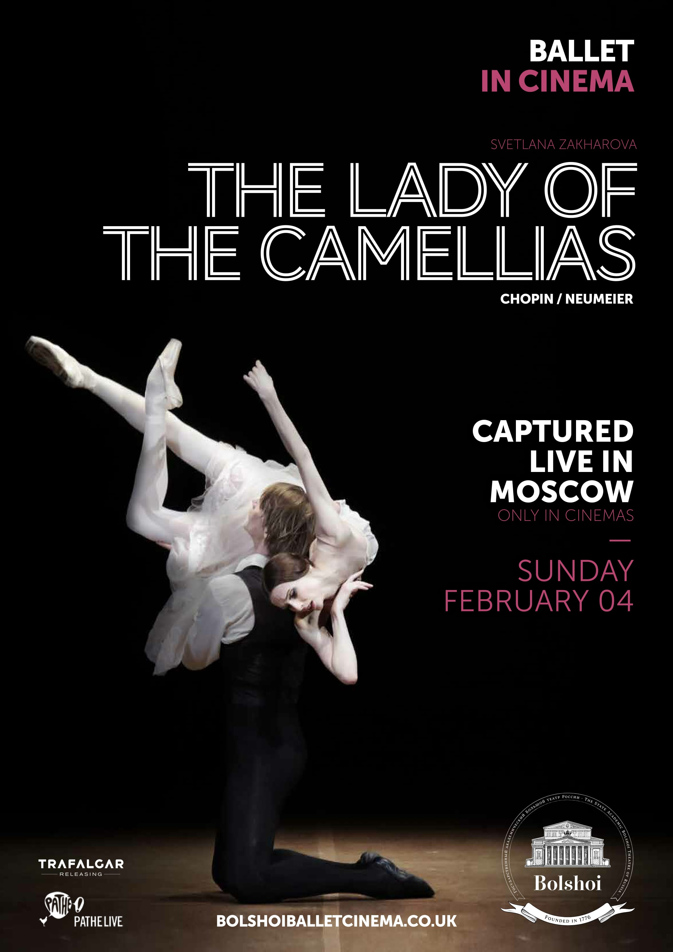 Bolshoi Ballet: The Lady of the Camellias Poster