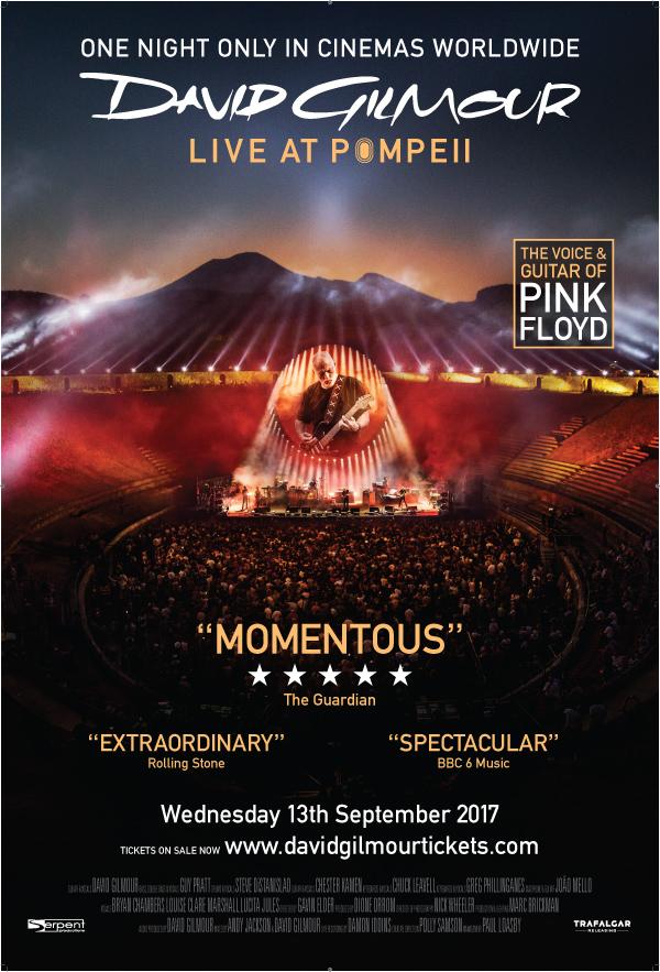 Poster for David Gilmour Live At Pompeii