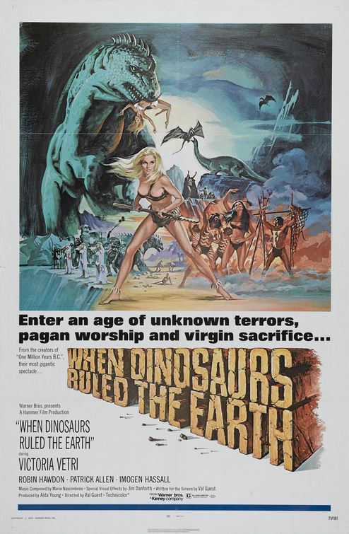 Poster for When Dinosaurs Ruled The Earth