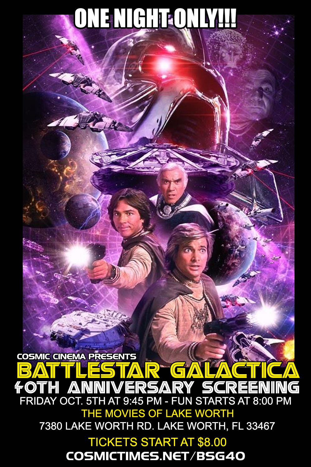 Poster for Battlestar Galactica 40th Anniversary