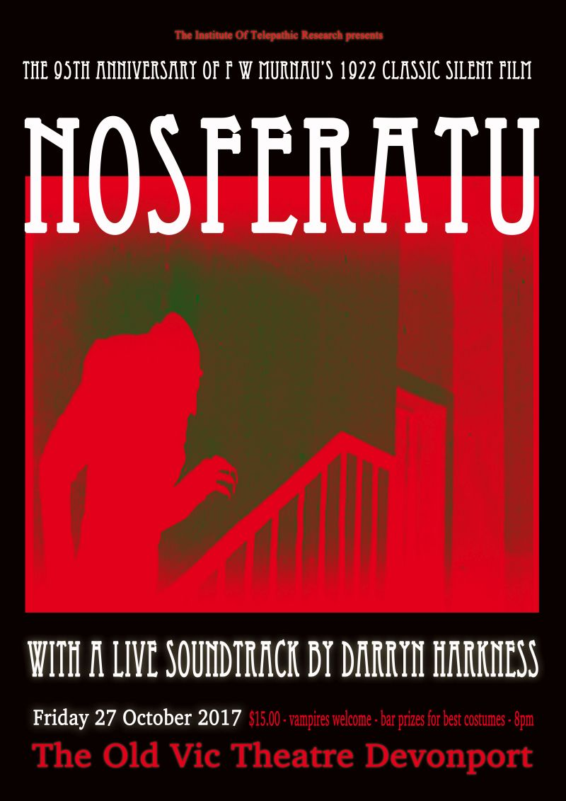 Poster of Nosferatu: with Live Soundtrack by Darryn Harness