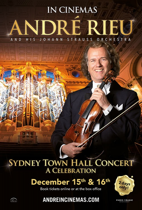 Poster of Andre Rieu's Sydney Town Hall Concert - A Celebration
