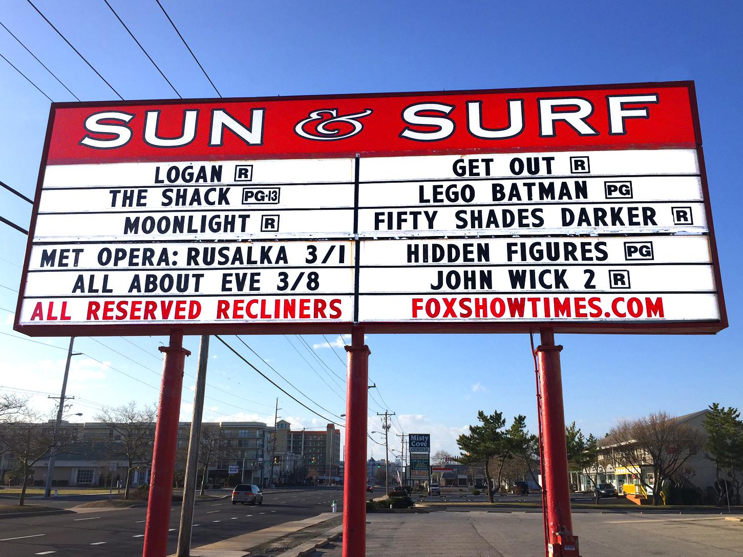 SUN & SURF CINEMA<br>Ocean City, MD