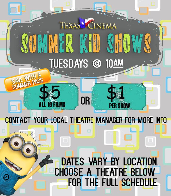 Summer Kid Shows 2014