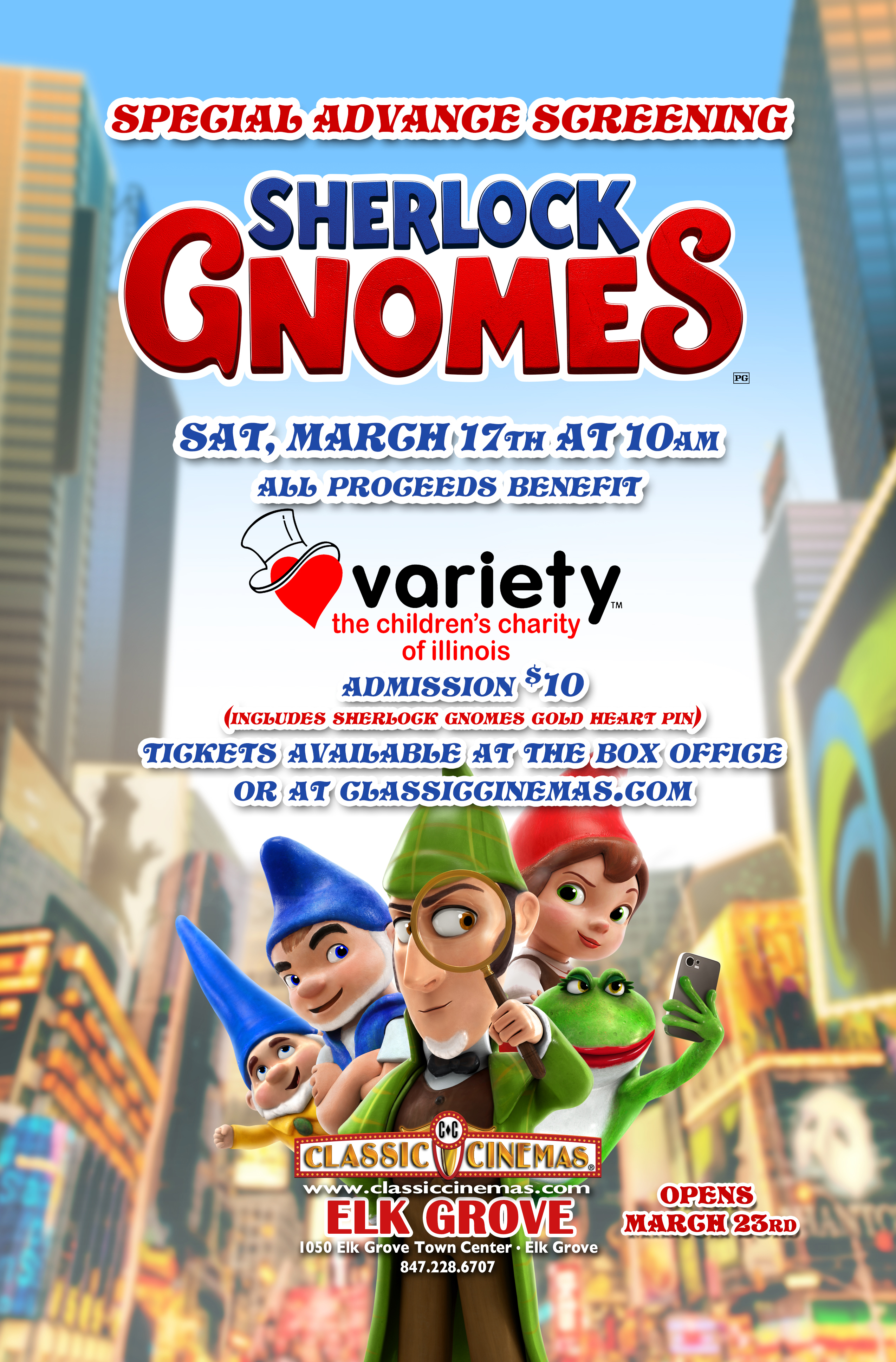 Sherlock Gnomes Screening