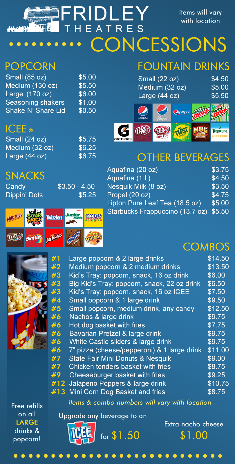 Image for concession items and prices