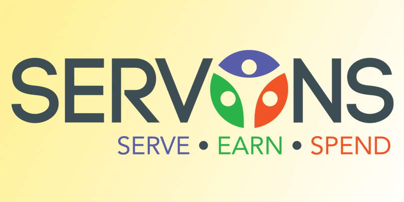 Servons - serve, earn, and spend! Click for more information.