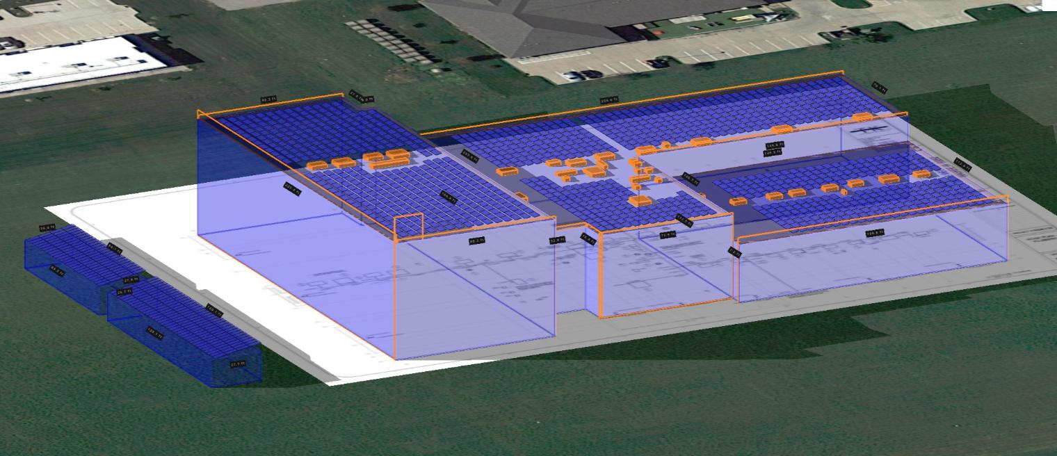 Solar panel renderings