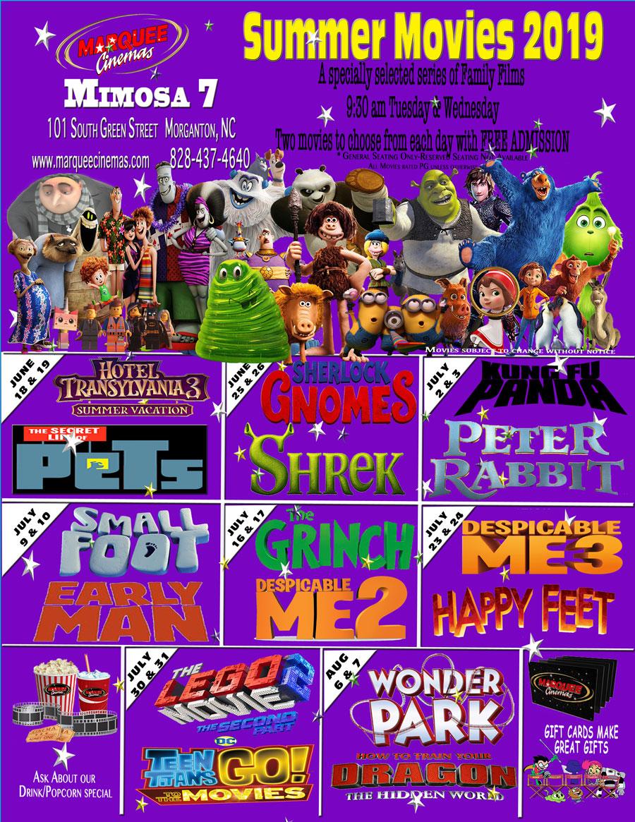 Marquee Cinemas | Summer Movies 2019