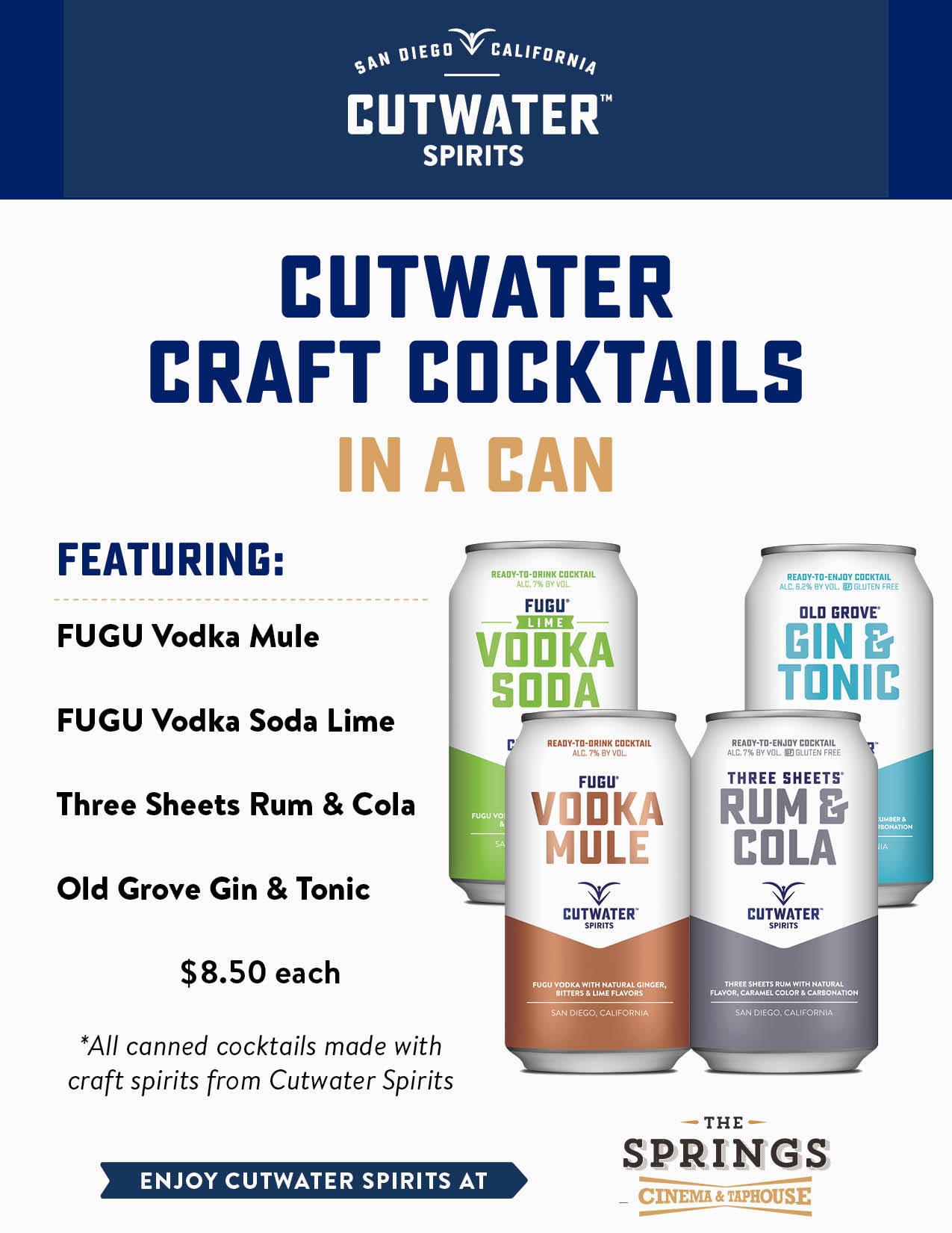 Cutwater Craft Cocktails