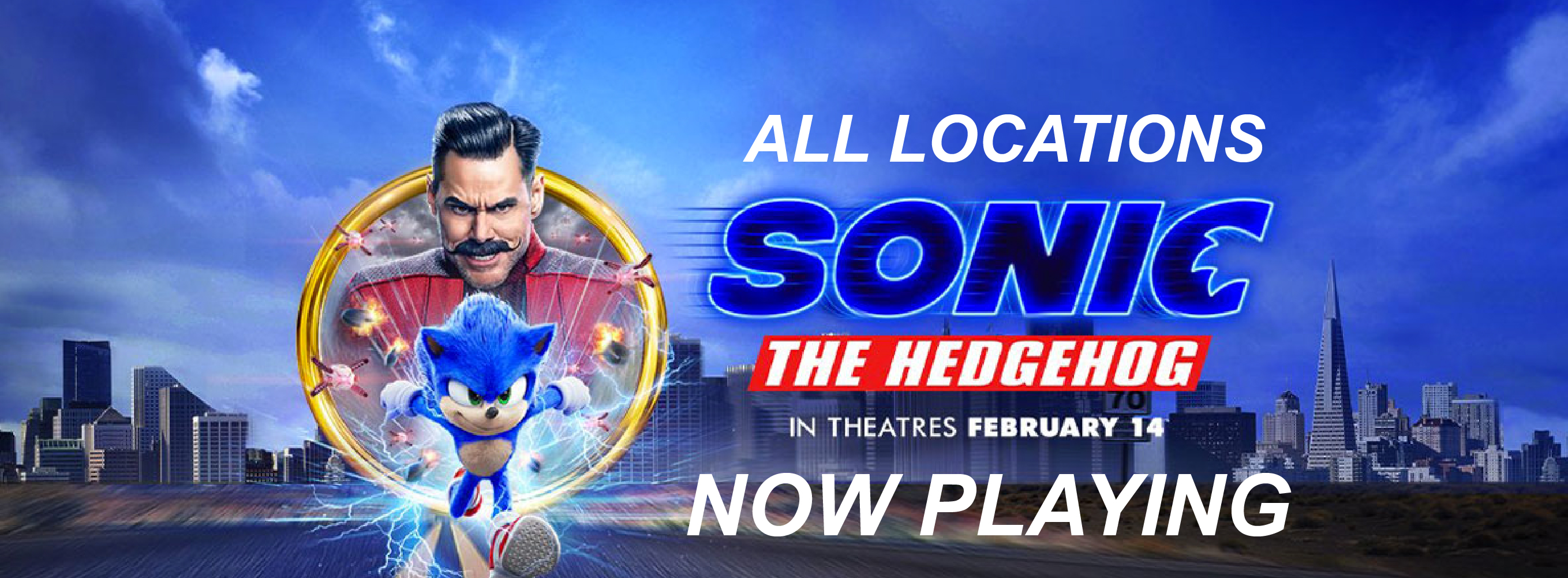 Sonic The Hedgehog Now Playing at All Locations