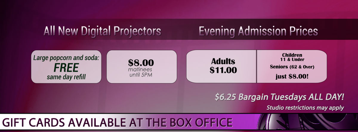 Slider for Gallery Cinemas Prices