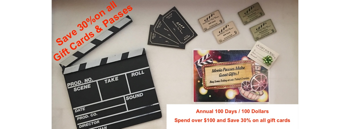 Save 30% on all Gift Cards and Passes
