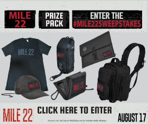Mile 22 Sweeptakes Prize Pack