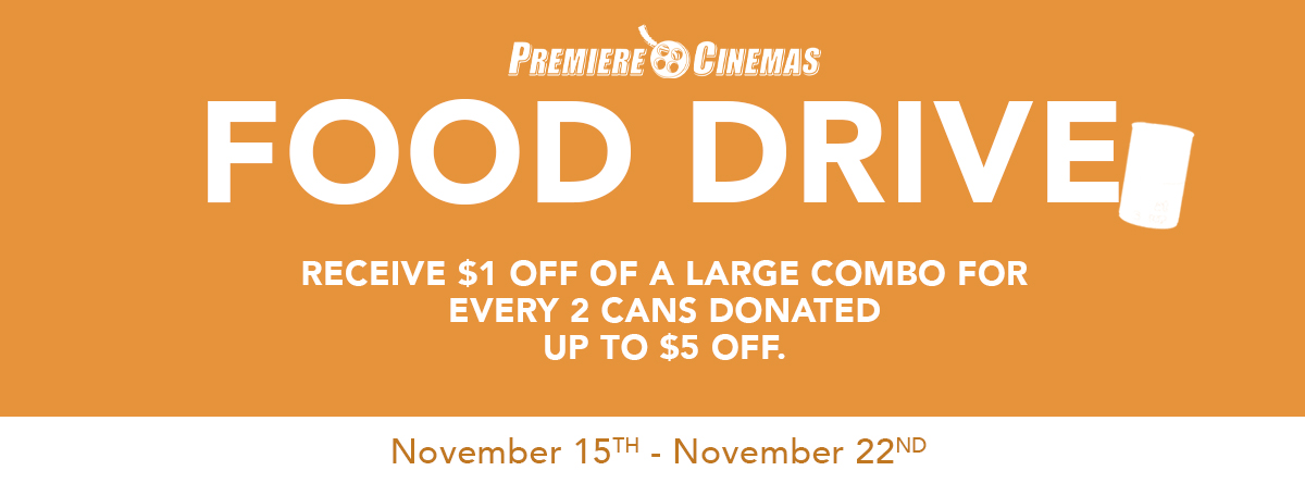 $1 OFF A LARGE COMBO FOR EVERY 2 FOOD CANS DONATED