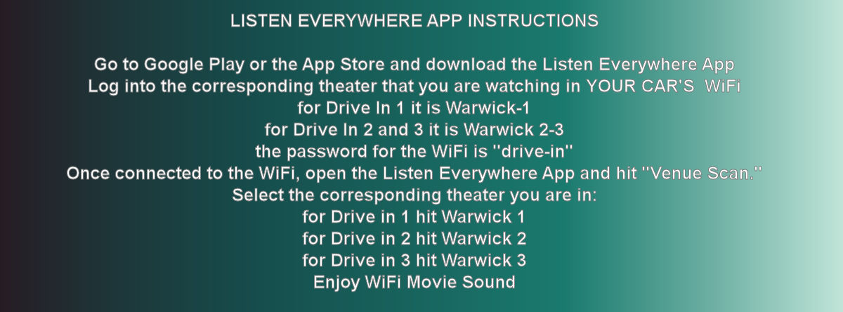instructions for LISTEN ANYWHERE APP