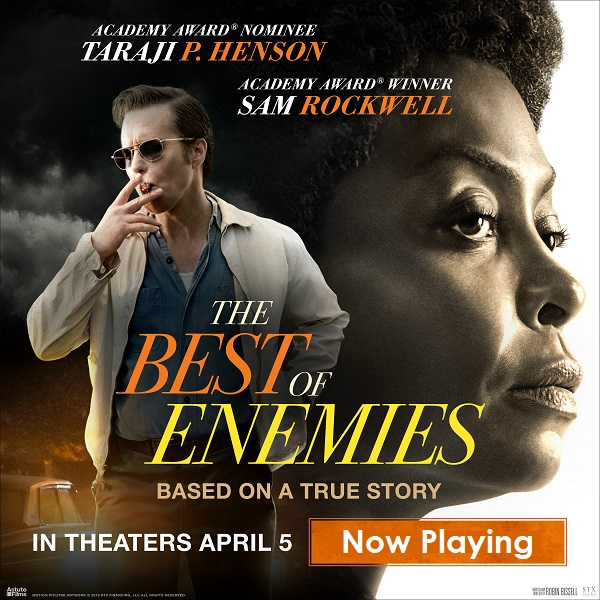 The Best Of Enemies Now Playing