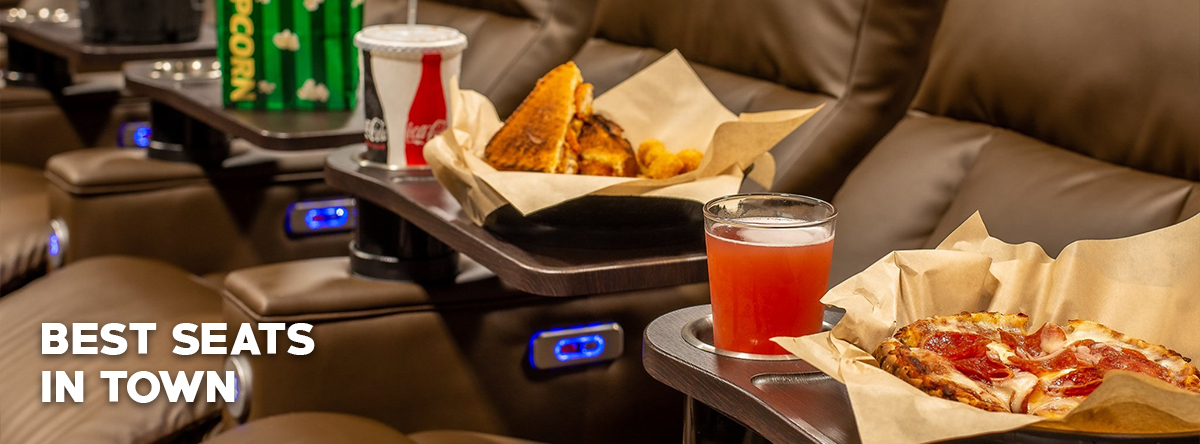 Theater seats with food