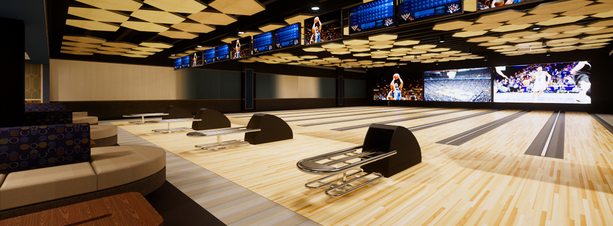 RENDERING OF BOWLING LANES LEXINGTON, KY