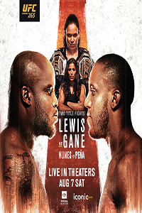 Poster of UFC 265 Lewis vs. Gane