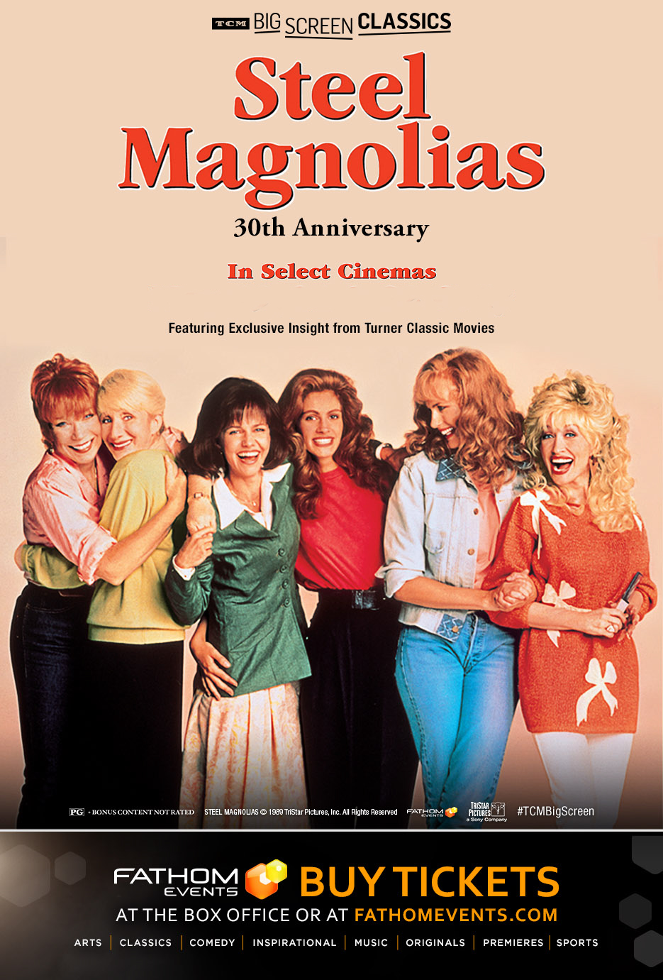 Steel Magnolias 30th Anniversary (1989) presented Poster