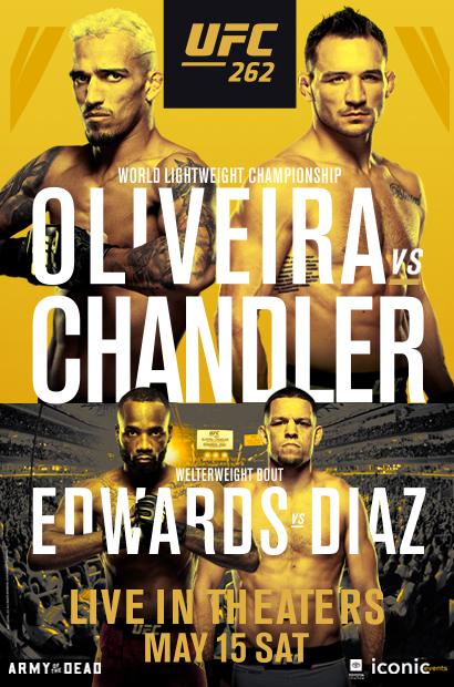 Poster for UFC 262: Oliveira vs. Chandler
