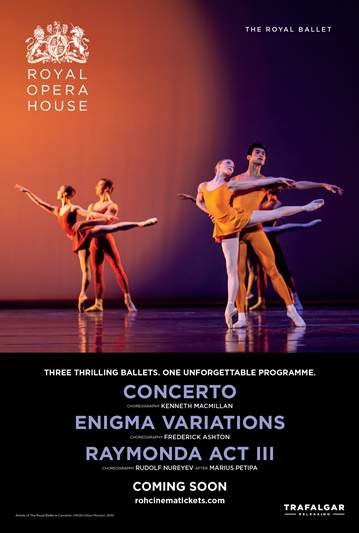 Royal Opera House Ballet: Concerto / Enigma Variations Poster