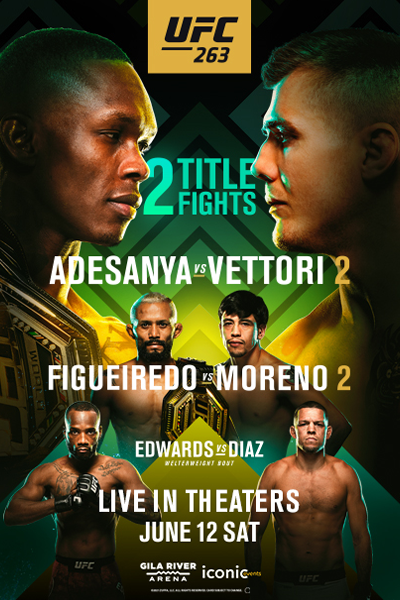 UFC 263: Adesanya vs. Vettori 2 Poster
