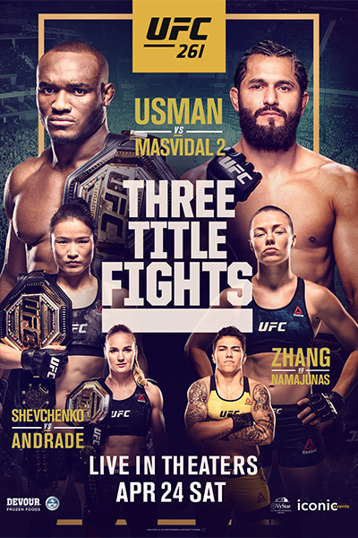 UFC 261: Usman vs. Masvidal 2 Poster