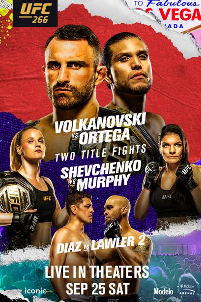UFC 266: Volkanovski vs. Ortega Poster