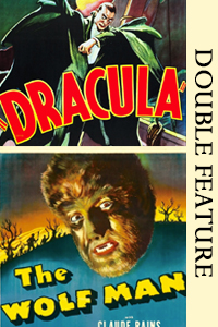 Poster of Dracula/Wolfman Double Feature