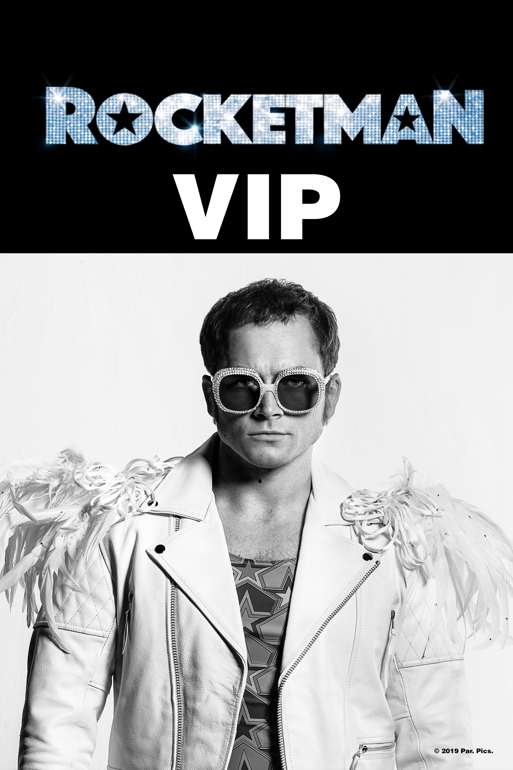 Poster of Rocketman VIP Showing w/ Merchandise