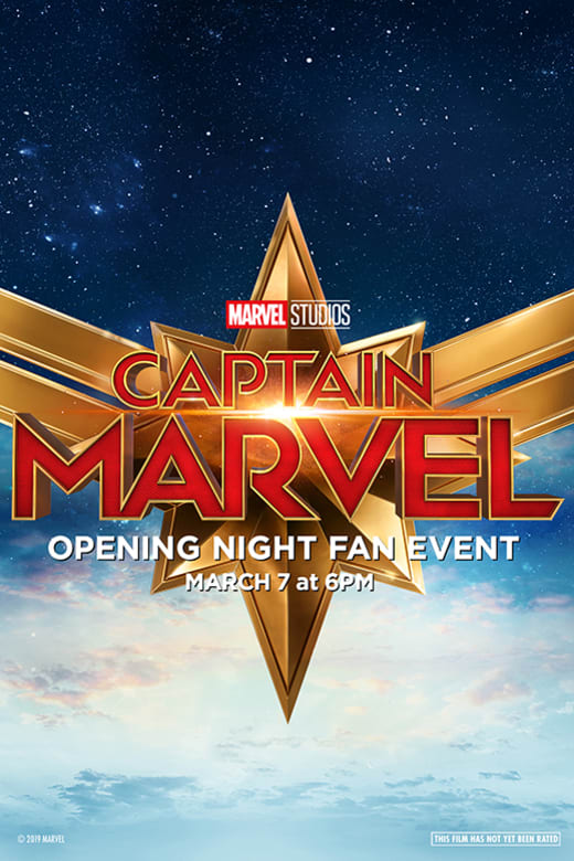 Poster of Opening Night Fan Event Captain Marve...