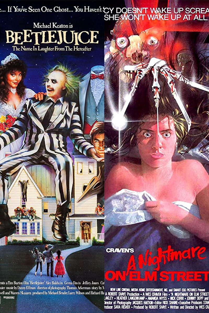(Double Feature Drive-In) A Nightmare on Elm Street & Beetlejuice Poster