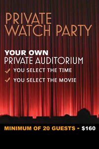 Private Watch Party (minimum of 20 Guests) Poster