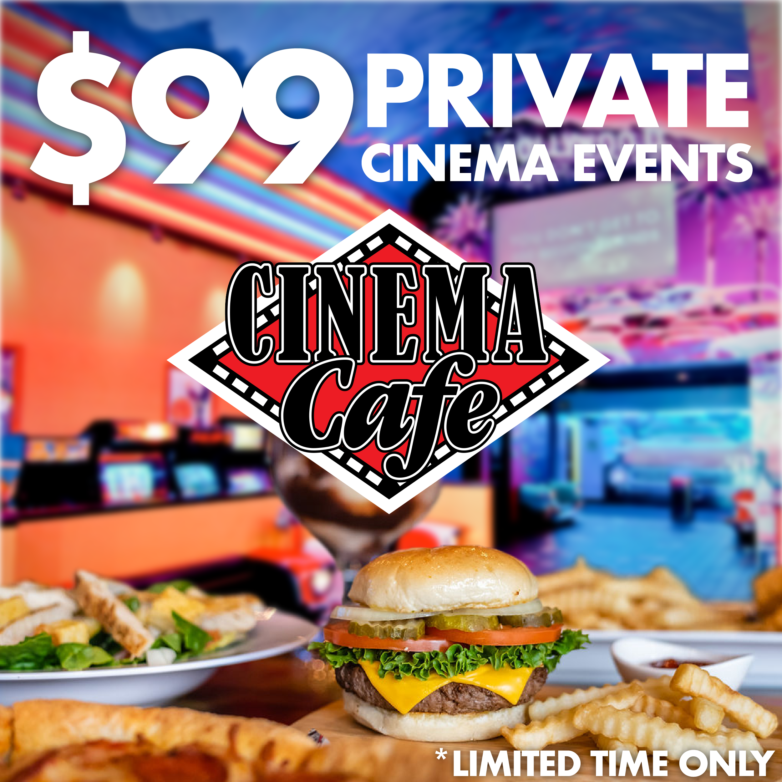 Click for more information about $99 rentals at Riverdale Cinema Cafe.